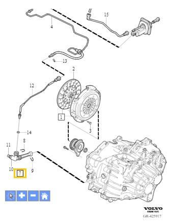 ODPOWIETRZNIK WYSPRZĘGLIKA OE VOLVO C30 C70 S40 S60 S80